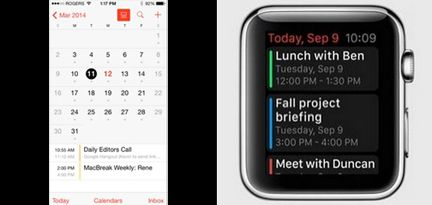 Aplicación de calendario Apple Watch