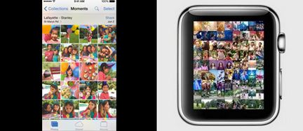 Aplicación de fotos de Apple Watch